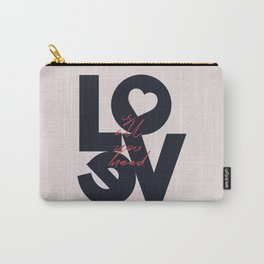 All you need is love, The Beatle music quote, Valentine's Day, just married, couples gift, present Carry-All Pouch
