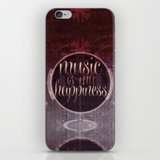 music is my happiness | music theme iPhone Skin