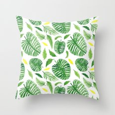 Palm leaf pattern Throw Pillow