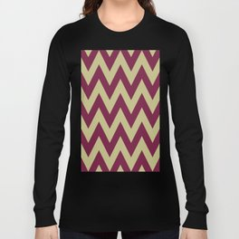 Team Spirit Chevron Maroon and Gold Long Sleeve T-shirt