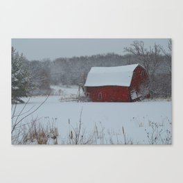 Zimmerman Red Barn Canvas Print