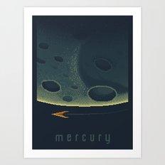 Mercury Space Tourism Travel Poster Art Print
