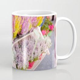 shelves with blooming heather Coffee Mug