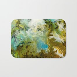 Two Worlds Abstract Colorful Art Bath Mat