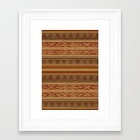 navajo Framed Art Prints featuring Navajo  by Terry Fan