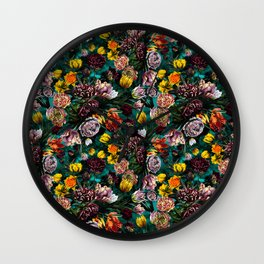Botanical Multicolor Garden Wall Clock