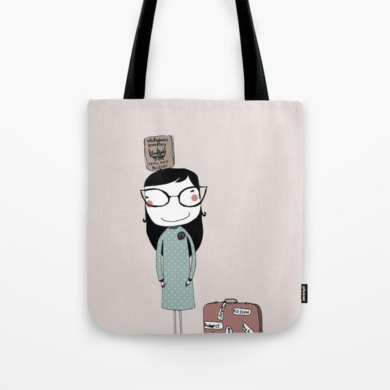 Keep Calm and Travel On Tote Bag