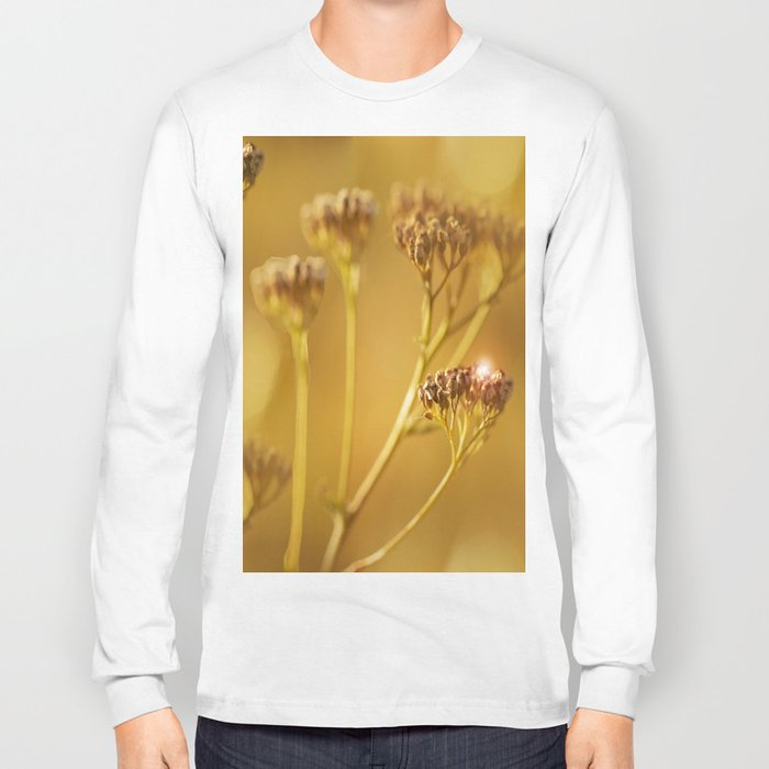 Autumn wildflowers in forest #decor #buyart #society6 Long Sleeve T-shirt