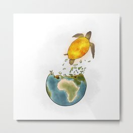 Climate changes the nature Metal Print