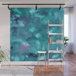 Dreamy Ocean Abstract Painting #2 #ink #decor #art #society6 Wall Mural