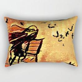 Samurai Woman (Onna-bugeisha) Rectangular Pillow