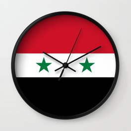 Syrian flag - may PEACE prevail Wall Clock