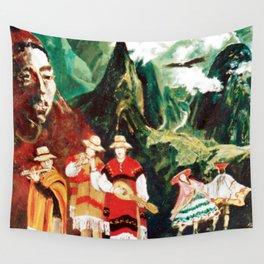 Machu Picchu  Folk                          by Kay Lipton Wall Tapestry