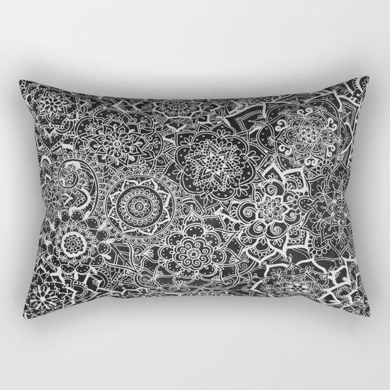 Delicate Lace Mandala Pattern Rectangular Pillow