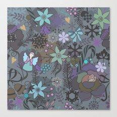 Colorful grey xmas pattern Canvas Print
