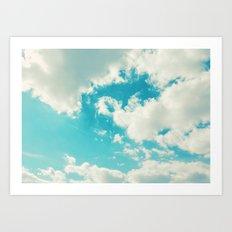 Teal Sky Art Print