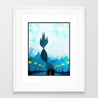 prague Framed Art Prints featuring prague by Darthdaloon