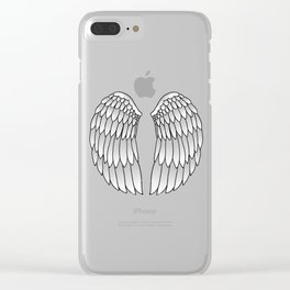 Angel Wings Clear iPhone Case