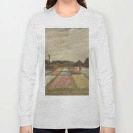 Vincent van Gogh Flower Beds in Holland c. 1883 Painting Long Sleeve T-shirt