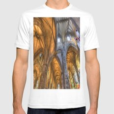 St Giles Cathedral Edinburgh MEDIUM White Mens Fitted Tee