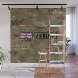 British Flag: Artillery (Camo) Wall Mural