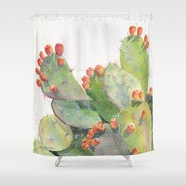 Cactus Watercolor 2 Shower Curtain
