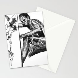 Surfer - Black and White Stationery Cards