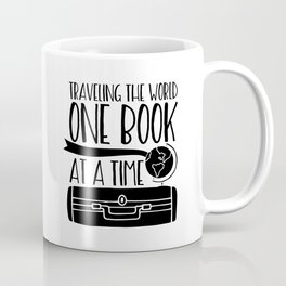 Traveling the World One Book at a Time V2 Coffee Mug