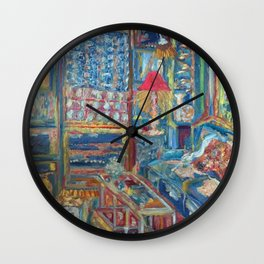 The Beautiful, Messy, Eclectic Room of the Artist When Nobody Else is Around by Pierre Bonnard Wall Clock