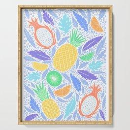 Summer Fruit on White Serving Tray