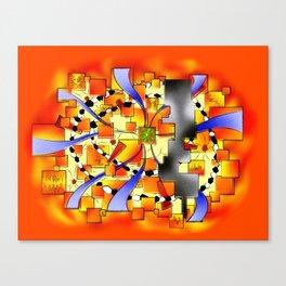 Deselia V3 - abstract digital artwork Canvas Print