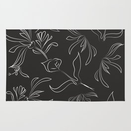 Hand Drawn Floral Rug