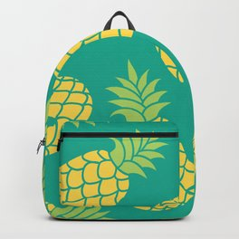 Yellow Pineapples on Teal Backpack