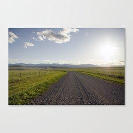 Gravel Road Canvas Print