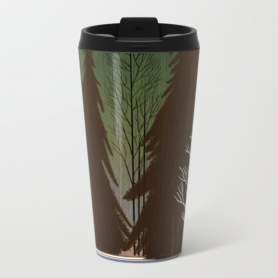 Into The Winter Woods Metal Travel Mug