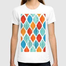 Bright colors tribal ikat pattern T-shirt