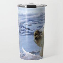 Cute Polar Bear Cub & Penguin Travel Mug