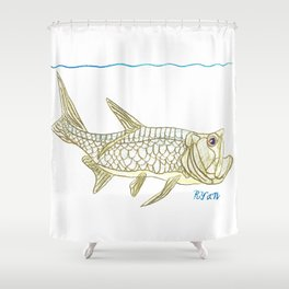 Key West Tarpon II Shower Curtain