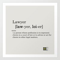 lawyer Art Prints featuring Paige Lawyer by Be Raza