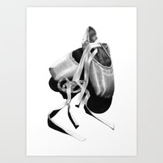 Ballet Dancer Shoes Art Print
