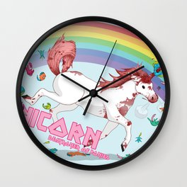 Unicorn: Destroyer of Ponies! Wall Clock