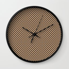 Desert Mist and Black Polka Dots Wall Clock