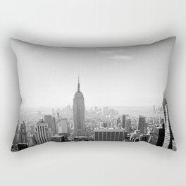 Manhattan - Empire State Building Panorama | B/W Rectangular Pillow