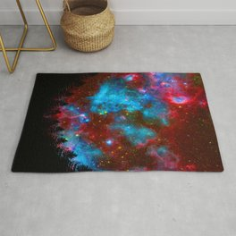 Forest Colorful Sky  Rug