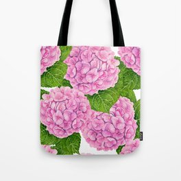 Hydrangea waterolor pattern Tote Bag
