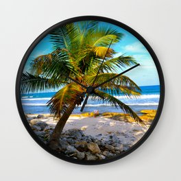 Mexican Palm Wall Clock