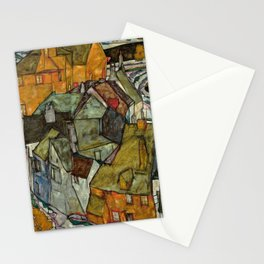 """Egon Schiele """"Crescent of Houses II (Island Town)"""" Stationery Cards"""
