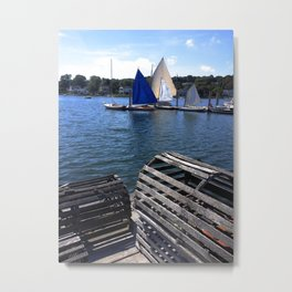 New England Lobster Traps Metal Print