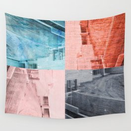 Popart Building Wall Tapestry
