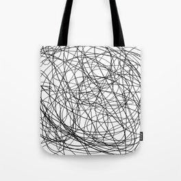 Black line doodle single line Tote Bag